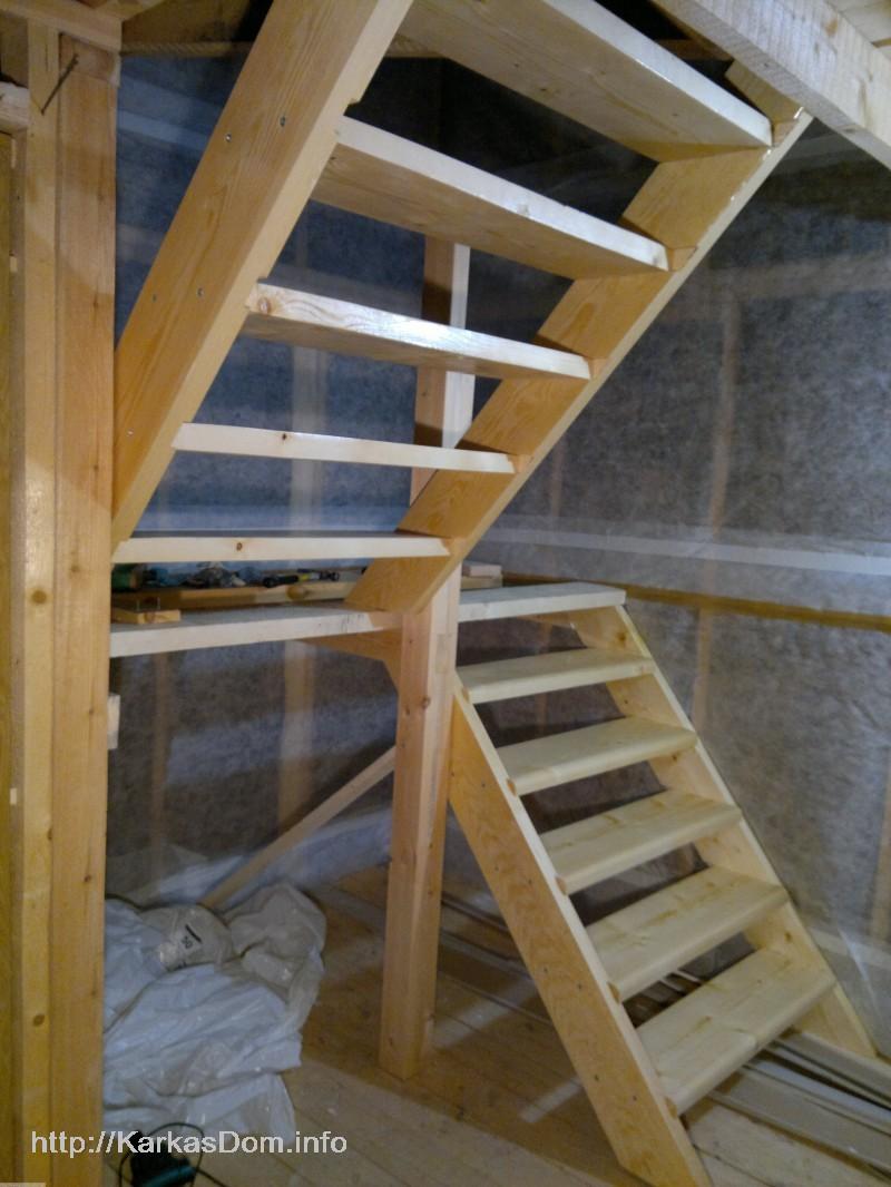 Как сделать лестницу в своем доме на второй этаж своими руками